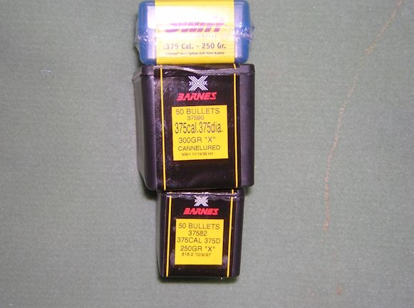 Barnes 375 cal bullets