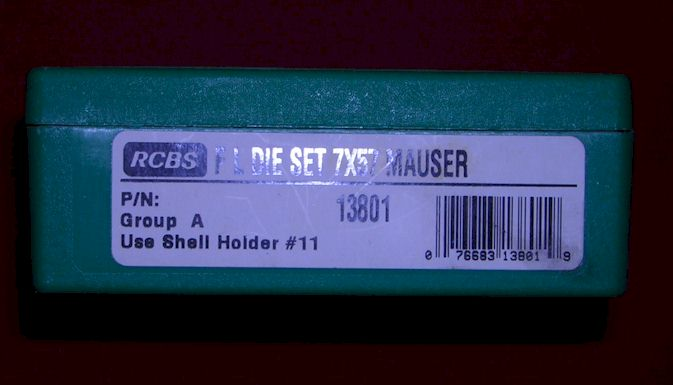 sold RCBS reloading dies 7X57 mauser