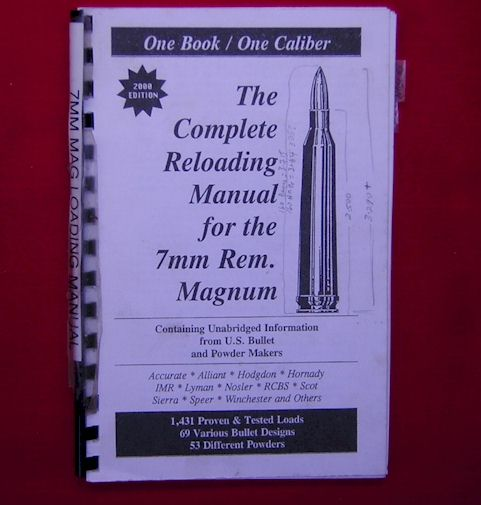 Reloading Manual, 7mm Remington Magnum Homestead Firearms