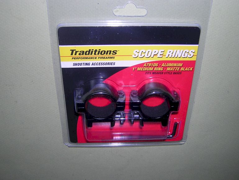 Traditions 1 inch scope rings