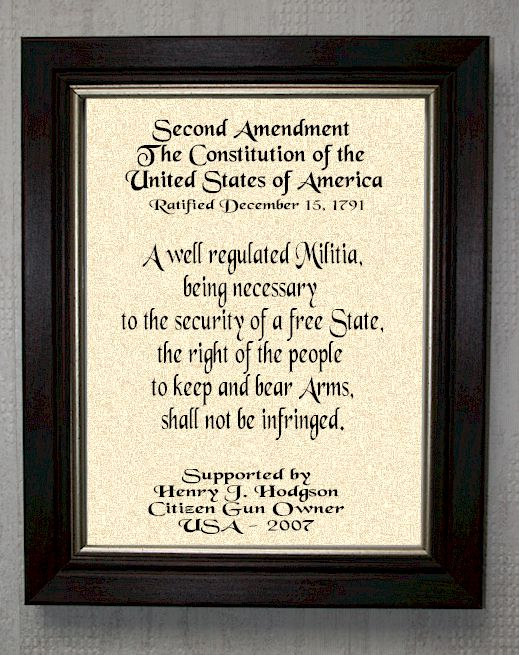 Second Amendment - Personalized