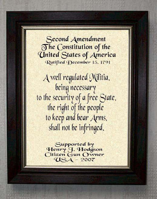 Second Amendment - Personalized