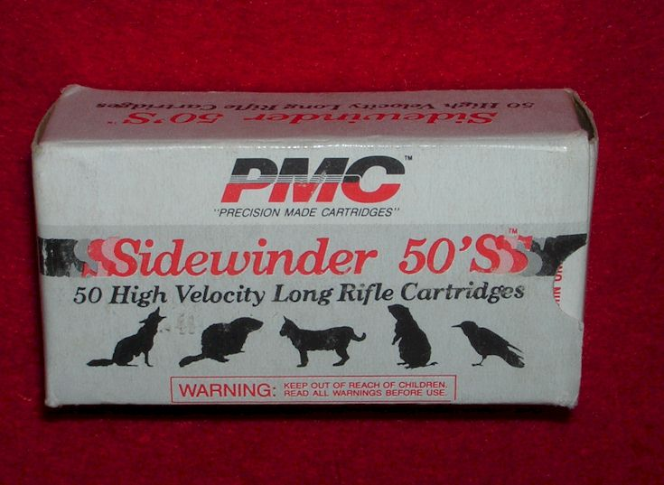 PMC Sidewinder 50s in 22 Long Rifle
